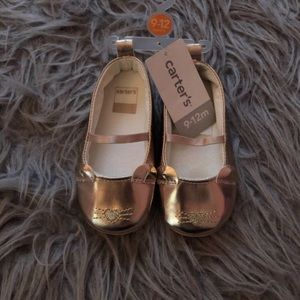 NWT Baby Girl Rose Gold Flats Size 9-12 Months